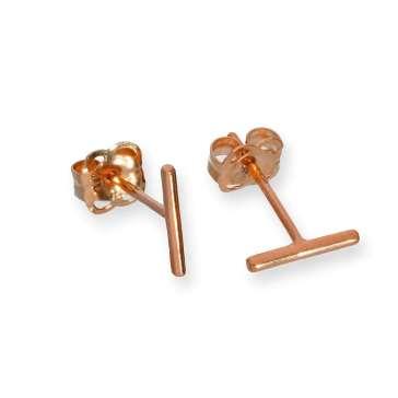 JSK-011_9ct_Rose_Gold_Bar_Stud_Earrings