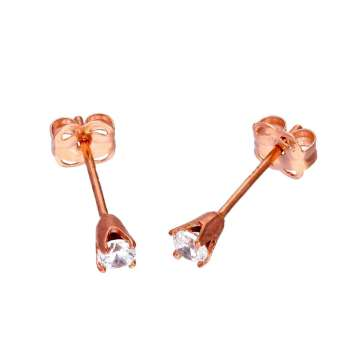 JSK-392_9ct_Rose_Gold_Clear_CZ_Crystal_Stud_Earrings